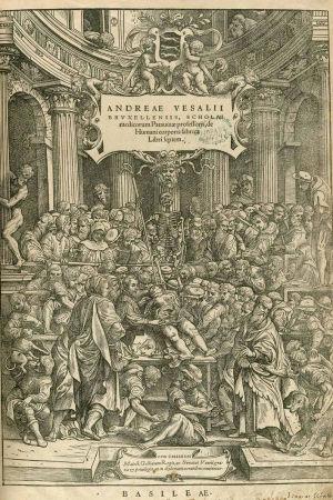 Andreas Van Weselin teos De Humani Corporis Fabrica - Basel, 1543