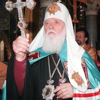 Patriark Filaret leder Ukrainas ortodoxa kyrka.
