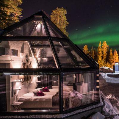 Santa's Hotelsin lasi-iglu Arctic Eye