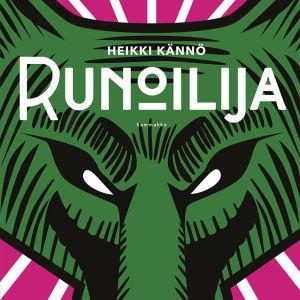 """Pärmen till Heikki Kännös roman """"Runoilija""""."""
