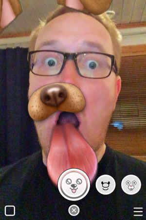 Kuvakaappaus Snapchat-sovelluksesta.