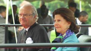 Kungen och Silvia var hedersgäster då svenskättlingar firade 350-årsjubileum i Delaware i USA.