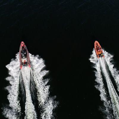 Meripelastusyhdistyksen veneet ylhäältä
