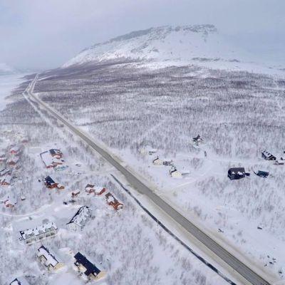 Saana, Kilpisjärven tunnetuin maamerkki.
