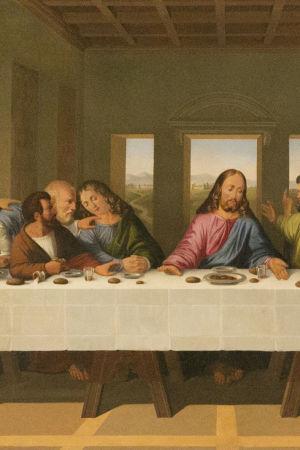 Joseph Desarnodi, 1789, kopio Leonardo da Vincin teoksesta Viimeinen ehtoollinen, Porvoon Tuomiokirkko, Porvoo
