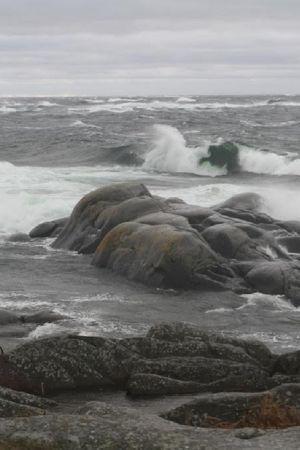 Stormig dag på Utö.