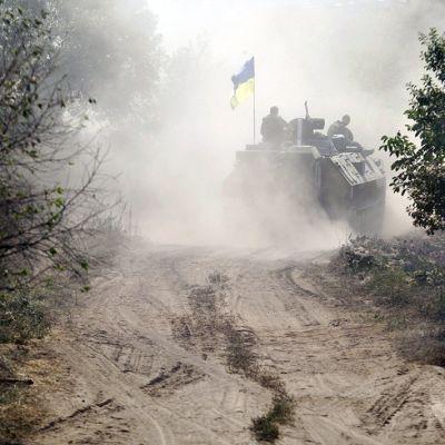 Ukrainan armeijan panssaroitu miehistönkuljetusvaunu.