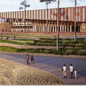 Arkitektskiss på centralarenan i Kokon.