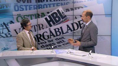 Tom Moring intervjuades av Jonas Jungar i Tv-Nytt 24.04.2013.