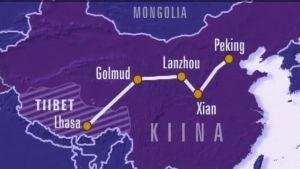 Junarata yhdistää Lhasan Pekingiin