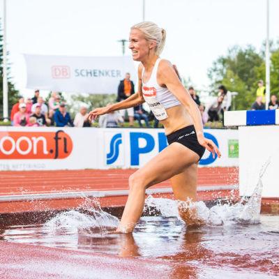 Camilla Richardsson i vattengraven, 2019.