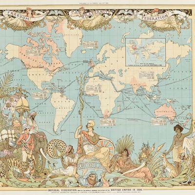 Brittiläisen imperiumin kartta.