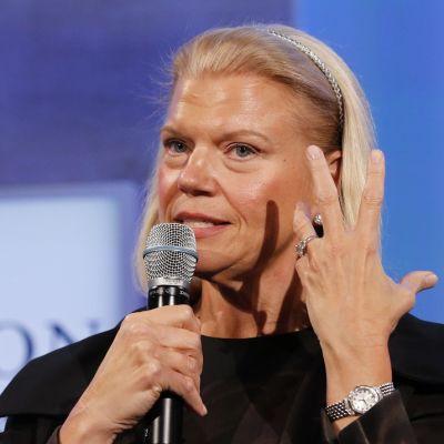 IBM:n toimitusjohtaja Ginni Rometty puhuu New Yorkissa 22. syyskuuta 2014.