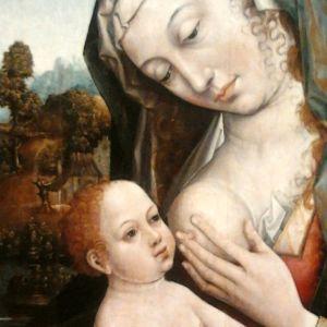 Hans Memling: Maria lactans