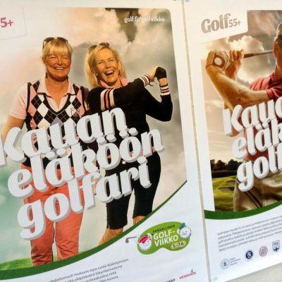 Golfvikolla houkutellaan viheriölle myös yli 55 -vuotiaita aloittelijoita.