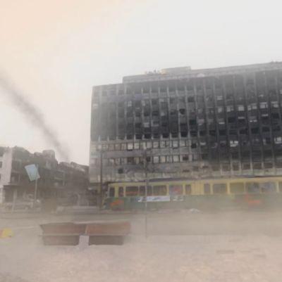 """Skärmbild från Kioskis vr-projekt """"Tänk om Helsingfors såg ut som Aleppo"""""""