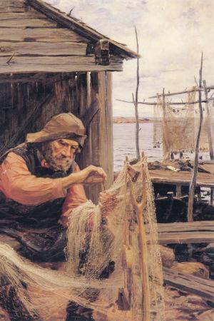 Målningnen Norsk fiskare.