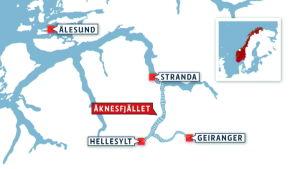 Norge, tsunami, karta