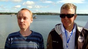 Conny Ljunggren och Kjell Dahl från Åland Sailing Robots