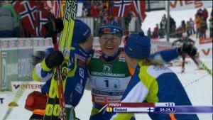 Damernas stafettguld i skid-VM i Liberec