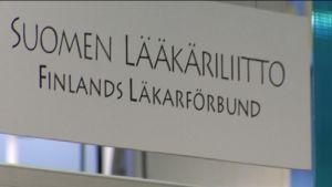 Finlands läkarförbund skylt