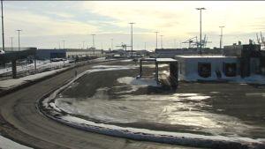 Nordsjö hamn i strejk