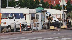 Romerna läger i Helsingfors
