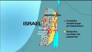 Karta över Israel