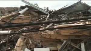En byggnad rasade i Ghanas huvudstad Accra