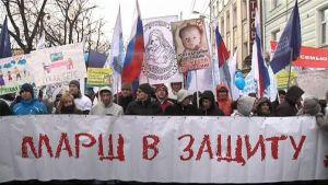 Demonstranterna i Moskva