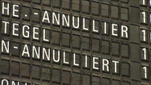 Strejk på Frankfurts flygplats inhiberar flyg
