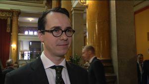 Försvarsminister Carl Haglund (SFP)