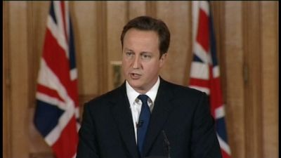 Storbritanniens premiärminister David Cameron