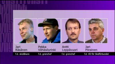 De fyra åtalade i dopinghärvan