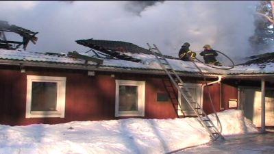 Brand i hem för funktionshindrade barn i Hapsal