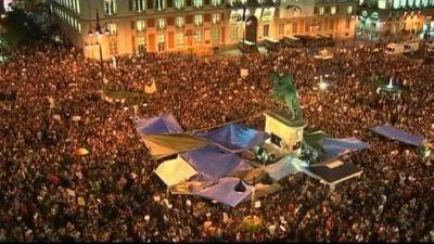 Demonstration i Madrid