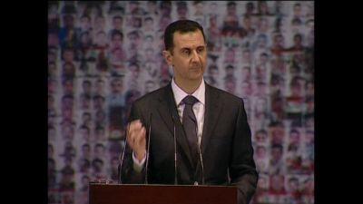 al-Assad talade inför sina anhängare i Damaskus
