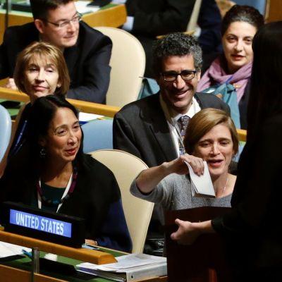 YK:n yleiskokouksessa äänestettiin turvallisuusneuvoston vaihtuvista jäsenistä 15. lokakuuta.
