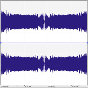 Tarzan-huudon aaltomuotokuvaaja äänieditorissa.