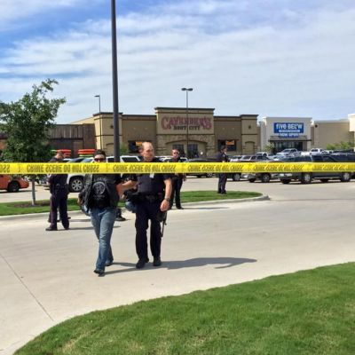 Texasin Wacon poliisilaitoksen julkaisema kuva ammuskelupaikalta. Yhdeksän moottoripyöräjengiläisen kerrotaan kuolleen ammuskelun seurauksena.