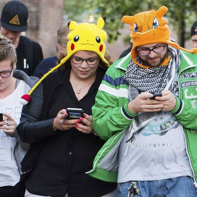 Pokemon go -pelin pelaajia Alankomaissa.