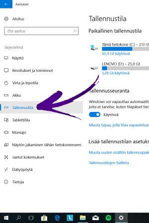tiedostojen poistaminen