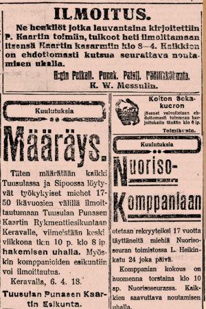 Aarre Merikanto sekä lehtileikkeitä.