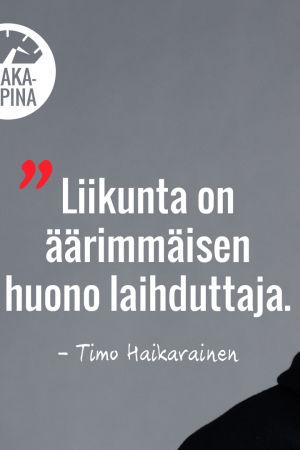 Timo Haikarainen, Vaakakapinan personal trainer.