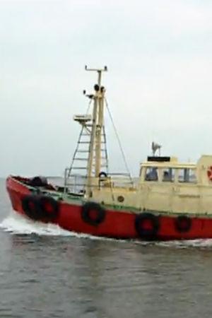 """Lotsbåt, skärmdump från filmen """"Med havet som arbetsplats"""", 1994"""