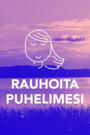 Tekstit: Rauhoita puhelimesi, Digitreenit, yle.fi/oppiminen. Kuvassa horisontti merellä.