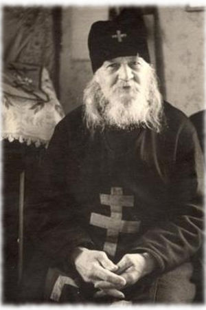 Svartvit bild på Johannes av Valamo
