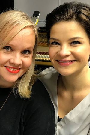 Riikka Holopainen ja Marjukka Tepponen.