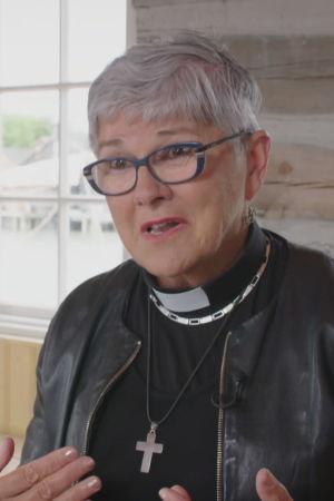 Åländska prästen prästen Maria Widén i sjöfararkapellet