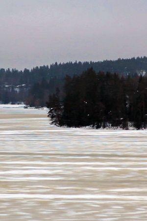 Maisemakuva kallavedeltä Kuopiosta.